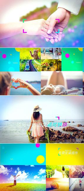 夏日旅游相册片头模板