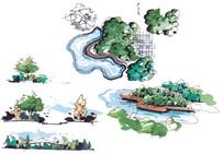 景观节点手绘画法