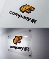 老虎形象保健健身行业logo