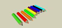 儿童彩色画笔模型
