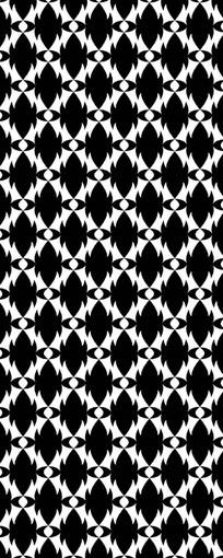 精典黑白花纹图案