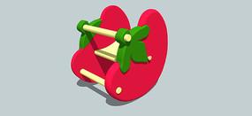 木制草莓摇摇椅模型