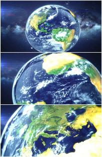 太空俯冲降落欧洲大陆视频素材