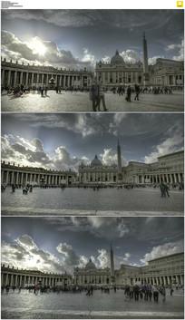 意大利圣彼得广场视频素材