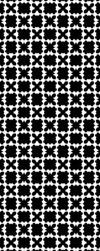 花样黑白镂空图案