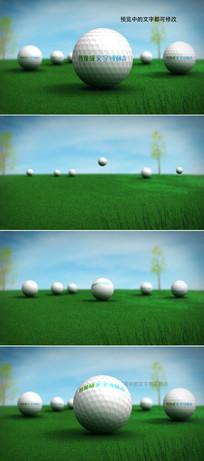 高尔夫球logo演绎模板