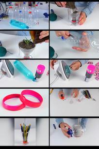 环保用塑料瓶手工制作生活用品视频