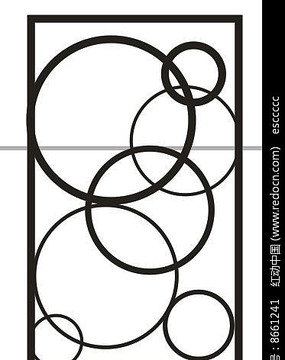 簡單圓雕刻圖案