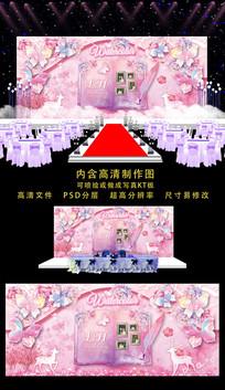 精品欧式婚礼舞台背景