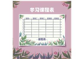 小清新学校学习课程表
