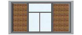 带格栅大气窗户模型