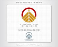 金字塔金融建设logo标志