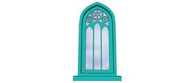 欧式铁艺窗户模型