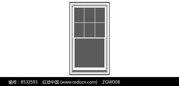 欧式住宅白色窗户模型图片