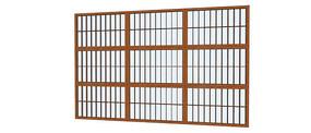 日式落地窗模型