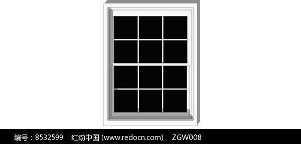 网格窗户模型图片