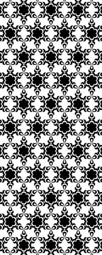 无间黑白花纹图案