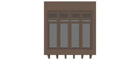 新中式窗门模型