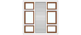 中间格栅窗户模型
