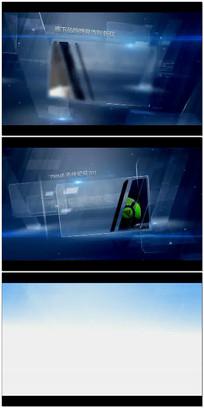 蓝色玻璃滑块荣誉展示视频模版