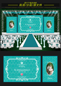 蒂芙尼婚礼舞台背景板设计