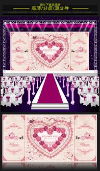 新欧式唯美浪漫婚礼舞台背景