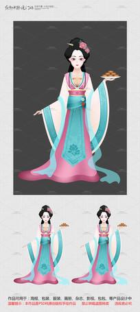 中秋节嫦娥奔月卡通形象设计