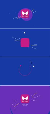 简洁扁平化标志演绎ae模板