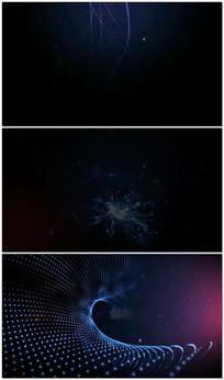 粒子网络背景图文替换视频模版