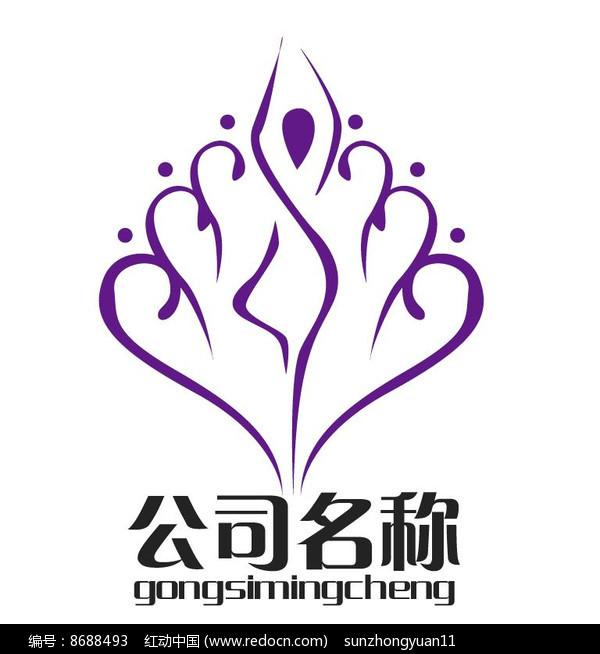 女性健身美容瑜伽logo图片