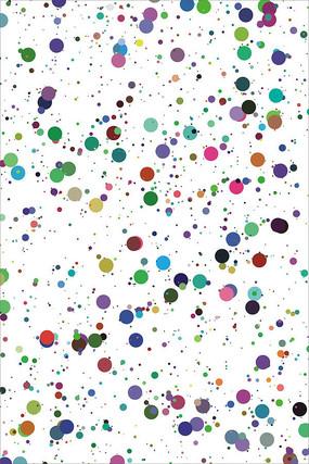 彩色圆点底纹