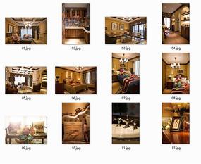 华丽欧式复古室内图