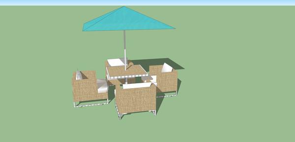 太阳伞和沙发