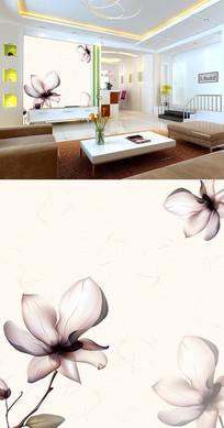 透明花底纹背景墙