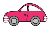 创意手绘卡通汽车插画