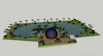 特色滨湖公园SU模型