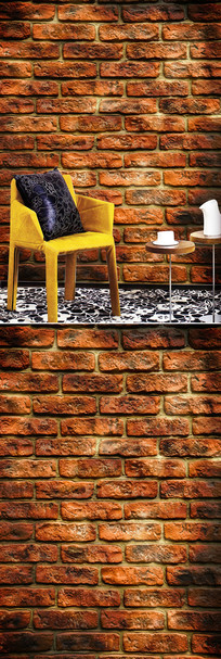 砖墙玄关背景墙