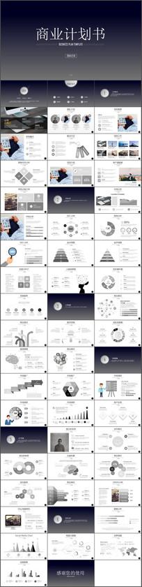欧美商业创业计划书PPT模板