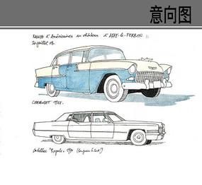 汽车线稿画法