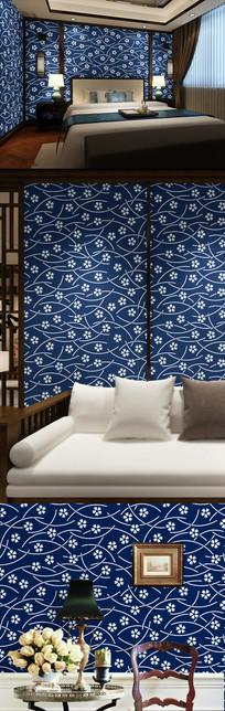 青花瓷背景墙欧式花纹装饰画