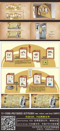 儒家孔子国学文化墙文化柱展板