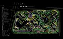 小区建筑总平面设计图