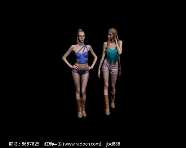 3dmax模型2 个美女图片