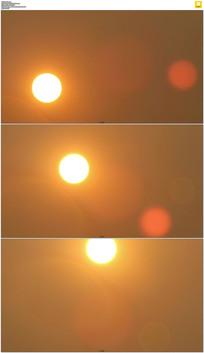 黄色太阳升起实拍视频素材