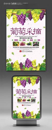 美味葡萄采摘海报设计