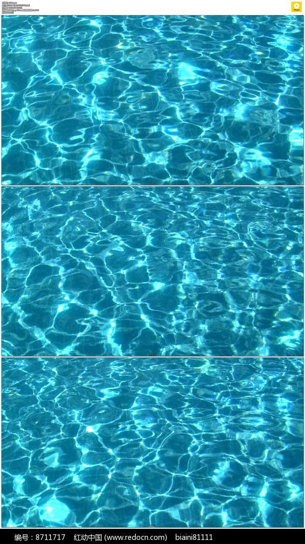 清澈的水波纹实拍视频素材图片