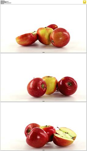 旋转的苹果实拍视频素材