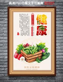 健康食堂文化海报设计