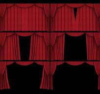 舞台幕布打开动画带A通道