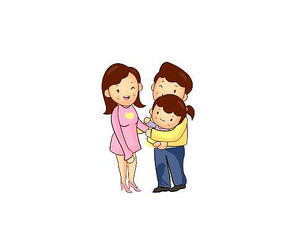 抱孩子卡通